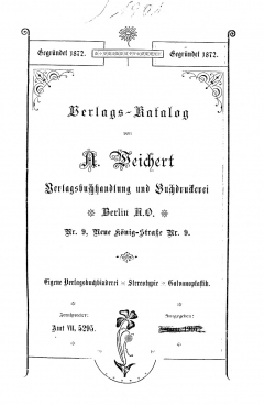 Weichert-Katalog 1901-1