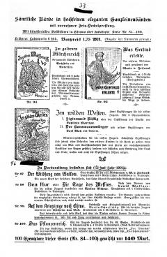 Weichert-Katalog 1901-33