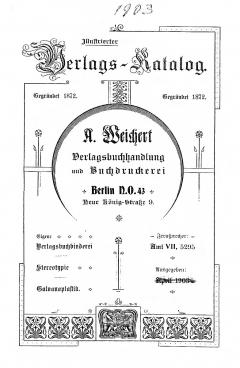 Weichert-Katalog 1903-1