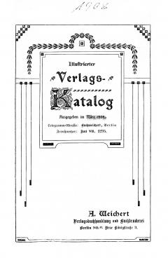 Weichert-Katalog 1908-1