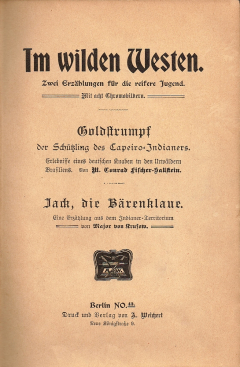 Im wilden Westen - Titelblatt 2